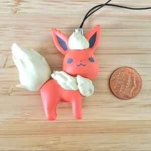 Rare official pokemon flareon figure strap
